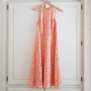 Charlie Brown peach coral lace dress